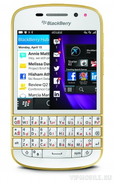 BlackBerry Q10 Special Gold Edition (золотой)